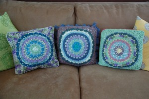 3 mandala pillows