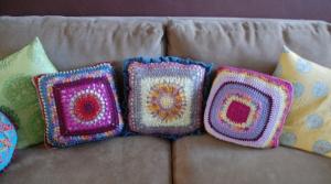3 mandalas pillows backs