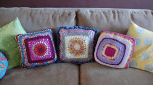 3 mandalas pillows backs