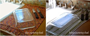 before after countertop shawl