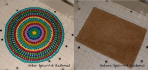 before after spinart bathmat