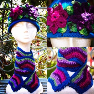 Beaded cloche and scarf combo...makes one crave the cooler climes!