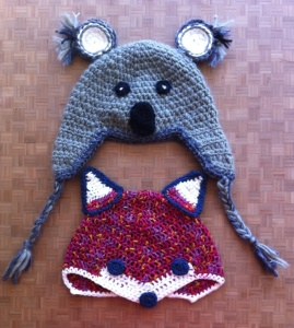 koala and fox hats