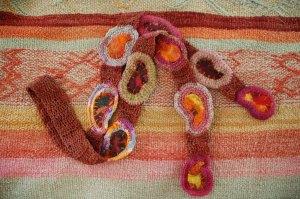paisley paramecium felted scarf