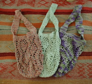 pinapple lace market bags