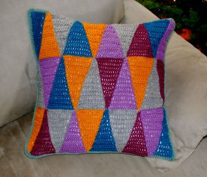 triangle pillow front