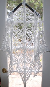 The white Peace, Sistah shawl is light as a cloud...